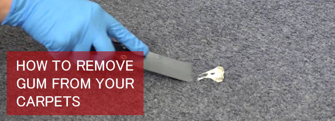 How to Remove Gum From Your Carpets Melbourne