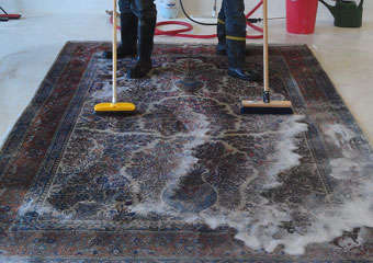 Rug Cleaning White Patch