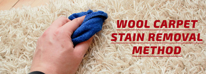 Wool Carpet Stain Removal Method